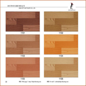 Health and Eco-Friendly Wood Looking PVC Flooring pictures & photos