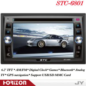 2 DIN Car DVD Player Stereo STC-6801 Double DIN Bluetooth DVD, 1 DIN Car DVD Player GPS Navigation