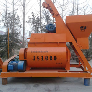 Double Horizontal Axle Force Concrete Mixer (JS1000) pictures & photos