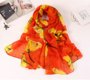 2016 Hot Sale Colorful Printed Women Shawl Cotton Scarf pictures & photos