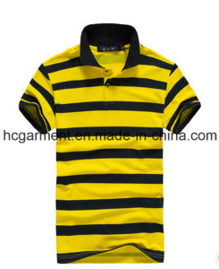 Short Sleeve Strip Cotton Polo for Man /Women, Men′s T-Shirt pictures & photos