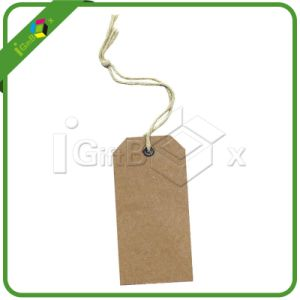 Printing Logo One Side Printed 300GSM Garment Tag pictures & photos