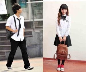 School Uniform with Skirt for Girls in British Style pictures & photos