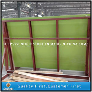 Artificial Apple Green Quartz Stone/Quartz for Kitchen Countertop pictures & photos