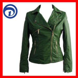 Lady′s PU Jacket Fashion Winter Jacket Qzydt-Lp-08