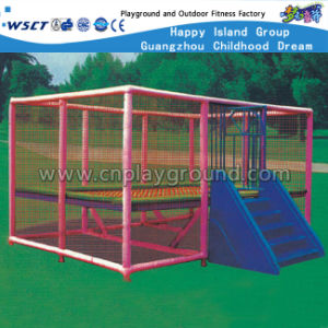 Outdoor Trampoline Playground with Roof for Kids Play (HD-15002) pictures & photos