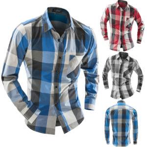 Men′s Flannel Plaid Slim Fit Long Sleeve Sublimation Shirts pictures & photos