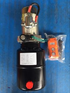 DC Mini Hydraulic Power Packs for Truck and Trailer Applications pictures & photos