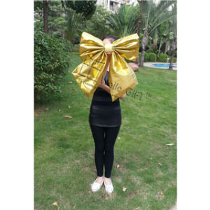 Handmade Gold Non-Woven Bowknot for Decoration pictures & photos