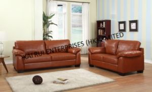 Brown PVC Modern Sofa