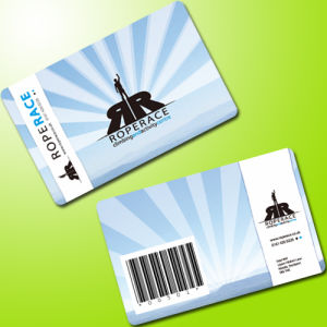 Visa Card Size PVC Membership Barcode Card with Ean-8 Code
