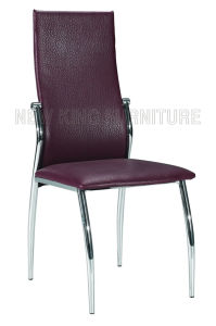 Modern Cheap Chrome Steel Foot PU Leather Dining Chair (NK-DC067)
