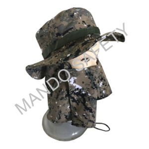 Cotton Big Brim Hat with Face Protection pictures & photos