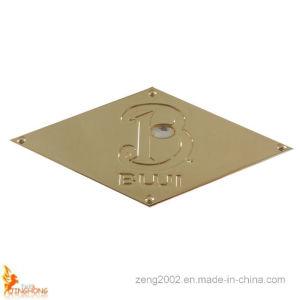 2015 New Design Fashion Rhombus Set Diamond Metal Plate pictures & photos