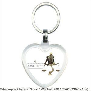 Heart Shape Acrylic Key Chain pictures & photos