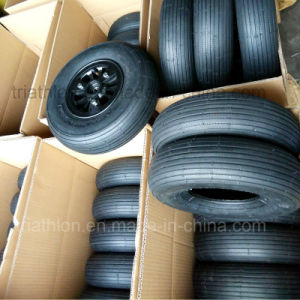 4.00-6 3.50-5 Tt Ribbed Airfilled Tire with Nylon Rim pictures & photos