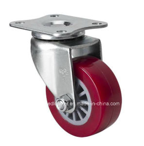 "Edl Mini 2"" 35kg Plate Swivel TPU Caster 2612-83"