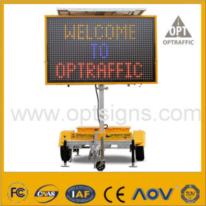 Solar Powered LED Light Road Safety Traffic Sign Vms pictures & photos