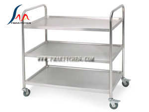 Stainless Steel 3 Layer Dining Cart, Round Tube or Square Tube, Many Size pictures & photos