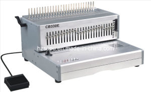 Electric FC Size Comb Binding Machine for Book Punching and Binding (CB330E) pictures & photos