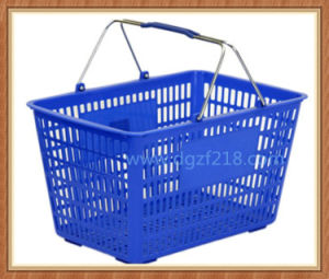 Iran High Quality Plastic Shopping Basket with Metal Handles Supplier