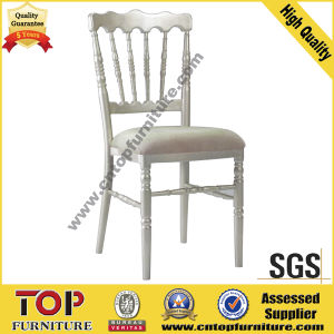White Aluminum Wedding Banquet Napoleon Chair pictures & photos