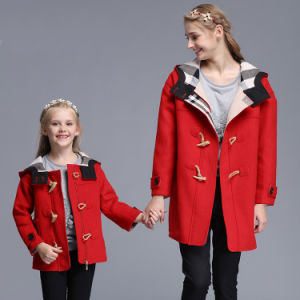 Family-Look Red Cotton Coat