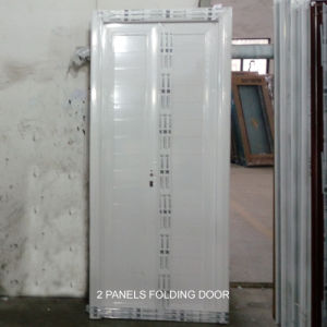 White Color All Aluminum Folding Door with 2 Panels pictures & photos