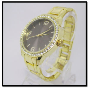 Crystal Gold Watch Sapphire Mens Watch Business Watch Gold Plated pictures & photos