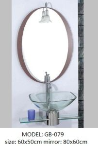 Clear Glass Wash Basin with Shelf pictures & photos