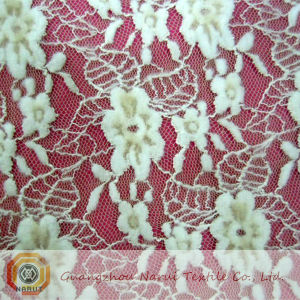 Stretch Cotton Lace Fabric (M0501) pictures & photos