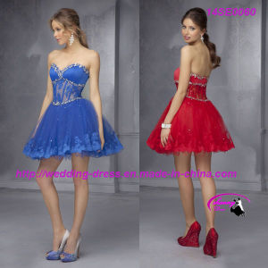 Hot Sale Red Cocktail Dress Lace up Back pictures & photos