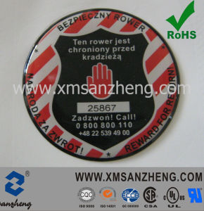 Removable UV Resistant PU Resin Colorful Permanent Adhesive Security Labels pictures & photos