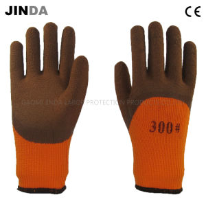 Terry Yarn Liner Latex Foam Coated Industrial Labor Work Gloves (LH801) pictures & photos