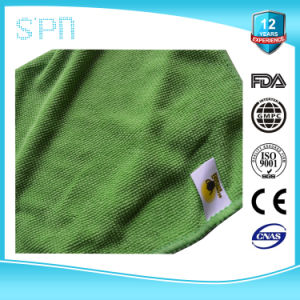 Wash Label Emboided Microfiber Cleaning Towel pictures & photos