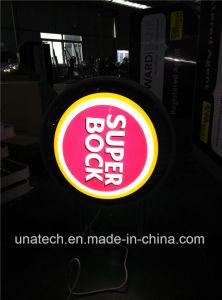 Round Circular Aluminium Frame with Metal Feet Ads LED Display Sign Vacuum Plastic Light Box pictures & photos