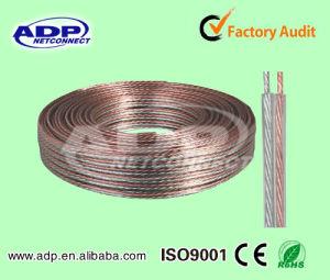 2c*0.5mm2~4.0mm2 Bc/CCA/CCS/Al Transparent Speaker Cable pictures & photos