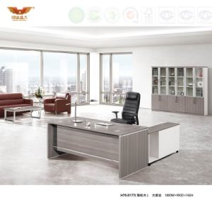 Fashion Design Office Furniture Melamine Office Desk Office Table With L  Shape Return (H70 0169)