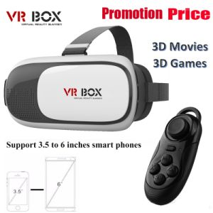 Vr Box Cardboard 3D Video Glasses Virtual Reality Headset for 3D Moives and Games