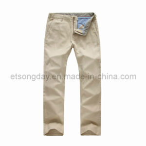 Light Khkai Linen Cotton Men′s Trousers (PANTALONZ PV14) pictures & photos