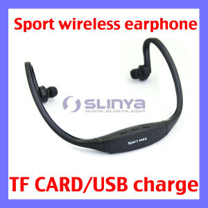 USB Sports Wireless Headphone Earphone Handfree MP3 Player Support up to 8GB Micro SD TF Card (SL-712) pictures & photos