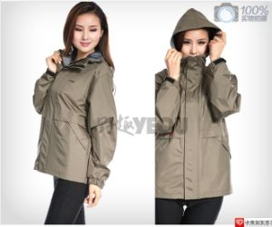 Fashion Lady Raincoat with PVC Polyester Fabric