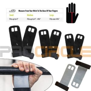Wrist Support Leather Weight Lifting Gym Gloves (PC-CG1011) pictures & photos