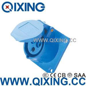 Qixing Cee/IEC Panel Mounted Straight Socket (QX-313) pictures & photos