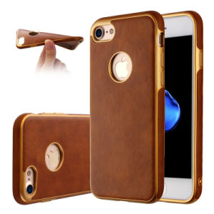 Soft TPU Phone Case for iPhone 6 6splus 7 7plus TPU Metal Oil Case for Samsung Galaxy J5 J7 Leather Case (XSDD-085) pictures & photos