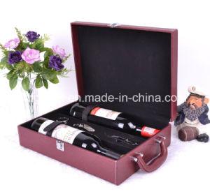 Fashion Design Good Workmanship Leather Wine Box pictures & photos