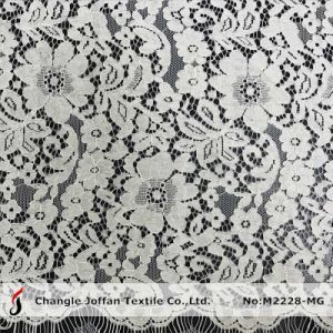 Latest Allover Scallop Bridal Lace Fabric (M2228-MG) pictures & photos