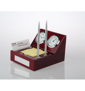 Conda Welcomed Wood Clock with Pen Card Holders pictures & photos