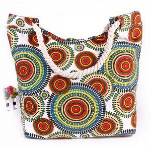 Printed Canvas Shoulder Bag Fashion Bag Canvas Mummy Bag Cotton Rope Handbag Beach Bag pictures & photos