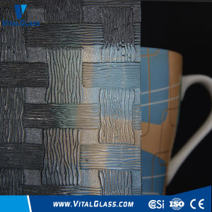 3-6mm Clear Woven Patterned Glass with CE&ISO9001 pictures & photos
